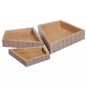 Wooden Nesting Storage Boxes